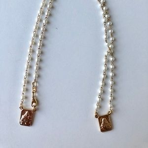 Jewelry - Plating Gold and Man-Made Pearl Scapular